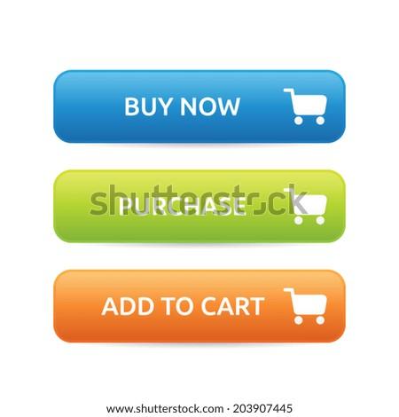 E-commerce Buttons - stock vector