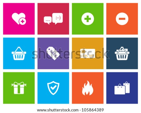 E-commerce icon series in Metro style - stock vector