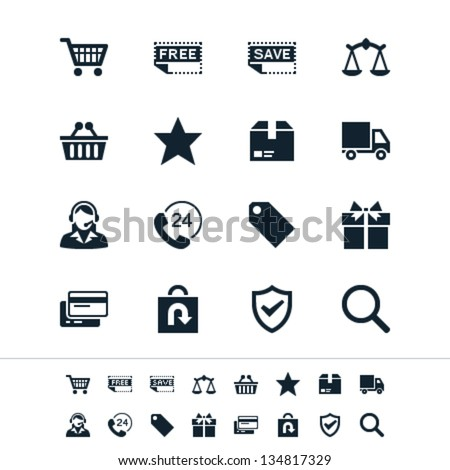 E-commerce icons - stock vector