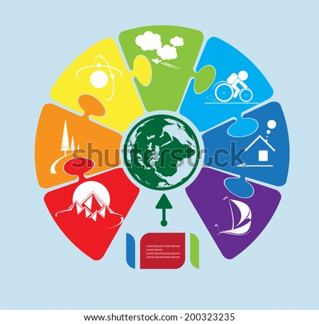 E-commerce infographic, for business and social solution - stock vector