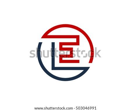 Monogram E Stock Image...E Logo With Circle