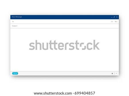 Email Blank Template Internet Mail Frame Stock Photo (Photo, Vector ...