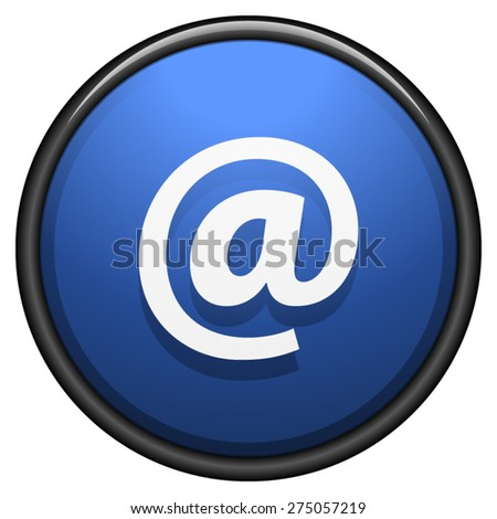 E-mail button - stock vector