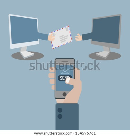E-Mail concept - stock vector