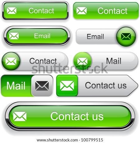 E-Mail green design elements for website or app. Vector eps10. - stock vector