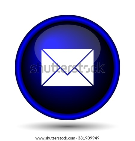 E-mail icon. Internet button on white background. EPS10 vector - stock vector