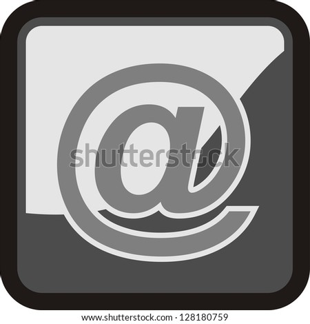 e mail, icon vector - stock vector