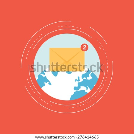 E-mail marketing concept - stock vector