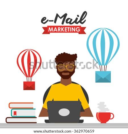 e-mail marketing design  - stock vector