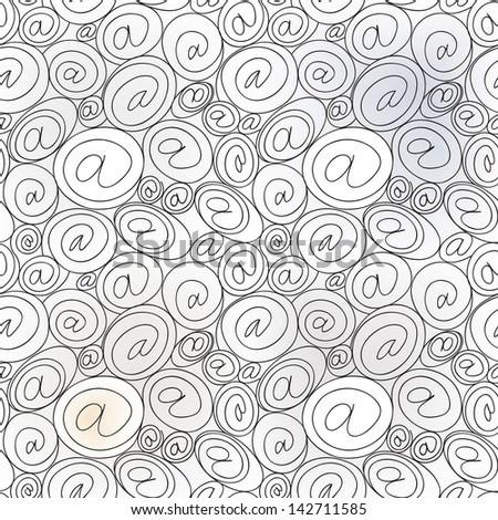 e-mail sign seamless background. email or spam mail pattern concept. - stock vector