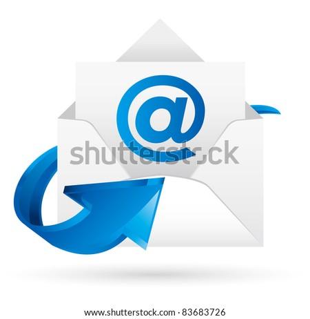 e-mail  Vector - stock vector