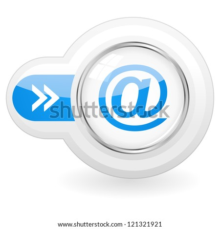 E-mail vector button.