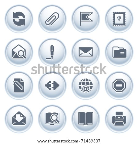 E-mail web icons on buttons. - stock vector