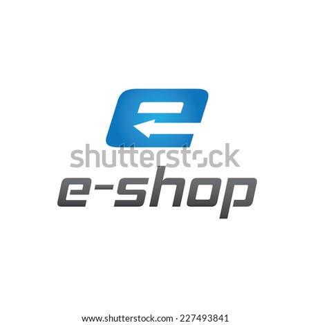 e shop vector design template - stock vector