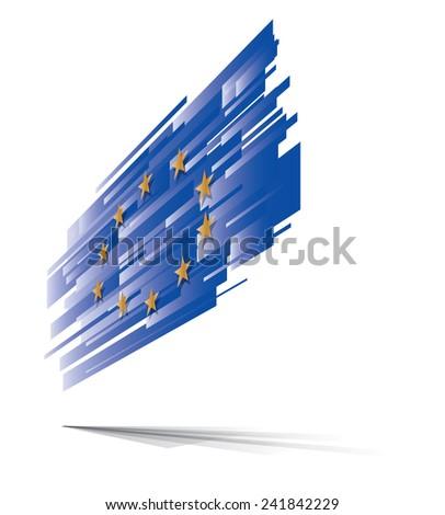 E.U. European flag abstract, eps10 vector graphic - stock vector