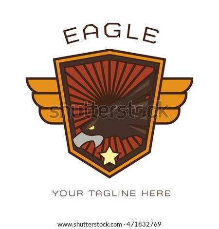 Eagle Emblem and badge Logo Template