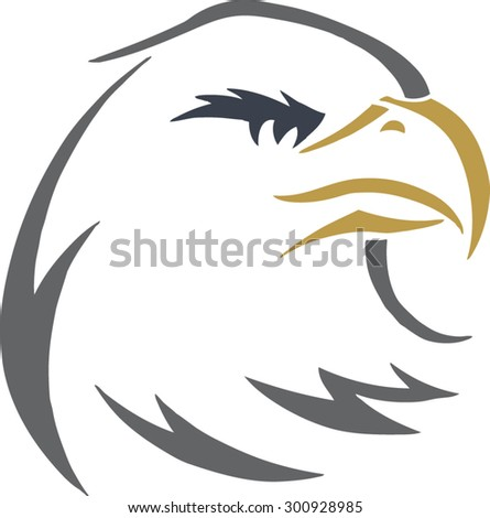 eagle head - stock vector