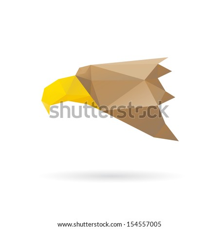 Eagle head abstract isolated on a white backgrounds, vector illustration