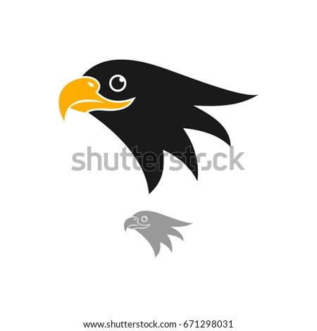 eagle head logo template hawk mascot stock vector 671298031