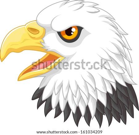 Eagle head mascot  - stock vector