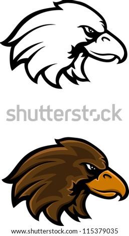 eagle head tattoo - stock vector