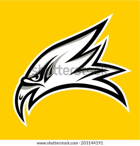 eagle head tattoo design - vector illustration - stock vector