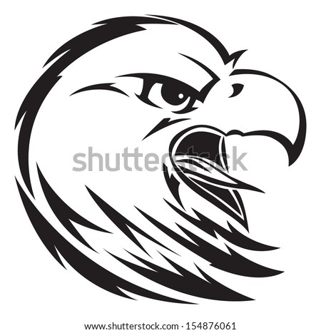 vector sign eagle stock vector 183934415 shutterstock. Black Bedroom Furniture Sets. Home Design Ideas