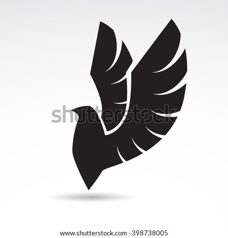 Eagle icon isolated on white background. Vector art. - stock vector