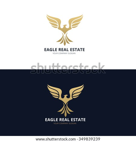 Eagle Logo,Bird Logo,Phoenix logo,Vector Logo Template - stock vector