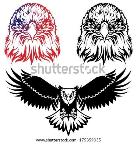 Eagle logo set - stock vector