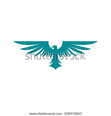eagle Logo Template - stock vector