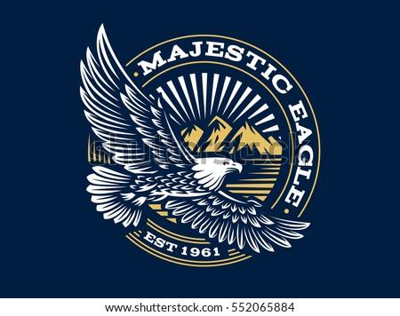 eagle logo vector illustration emblem design stock vector