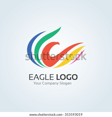 Eagle Logo,vector logo template - stock vector