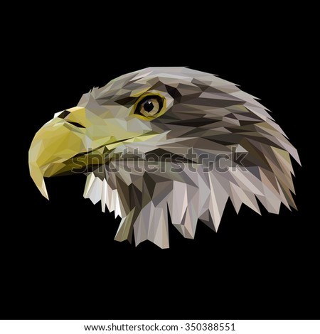 Eagle low poly design. Triangle vector illustration. - stock vector