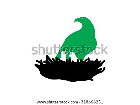 Eagle Nest - stock vector