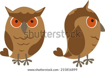 eagle owl - stock vector