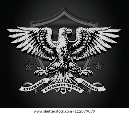 Eagle shield - stock vector