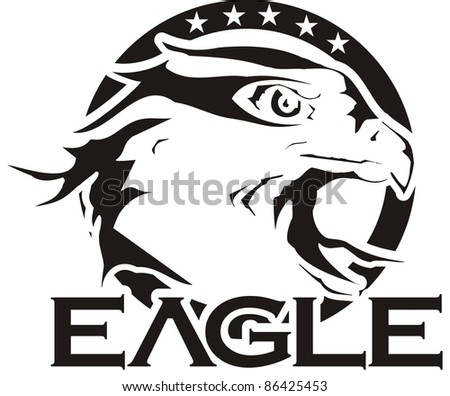 eagle shield - stock vector