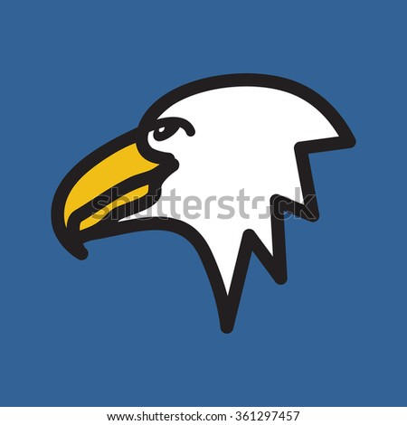 Eagle Simple Vector Icon Stock Vector 361297457 - Shutterstock