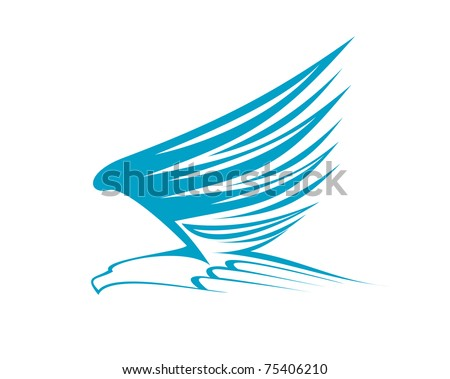 Eagle Symbol Isolated On White Logo Stock Vector Hd Royalty Free