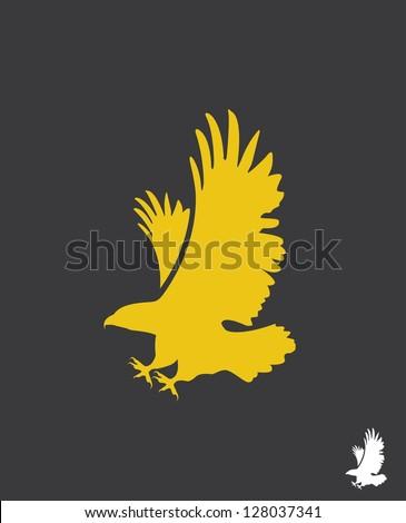 Eagle, vector - stock vector