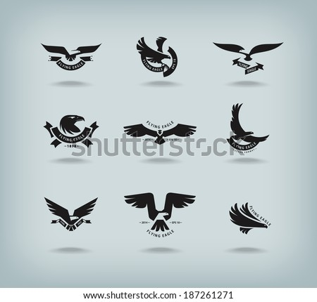 Eagle. Vector format - stock vector