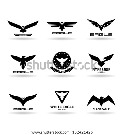 Eagles (8). - stock vector