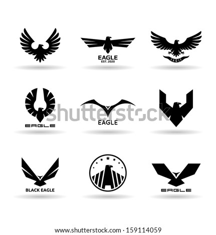 Eagles (10) - stock vector