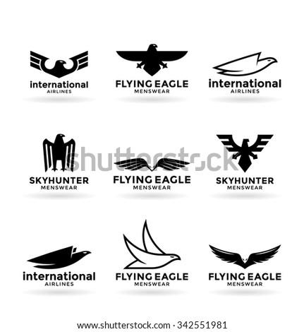 Eagles (22) - stock vector