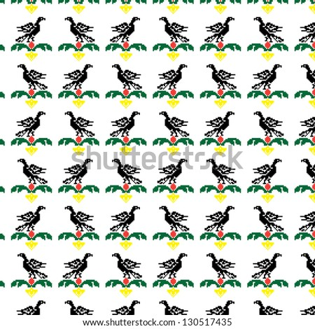 Eagles seamless pattern.You can change the background. - stock vector