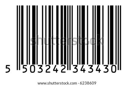 EAN 13   barcode - stock vector