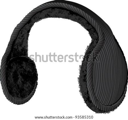 ear muffs - stock vector