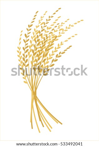 ear of rice design, plant logo vector