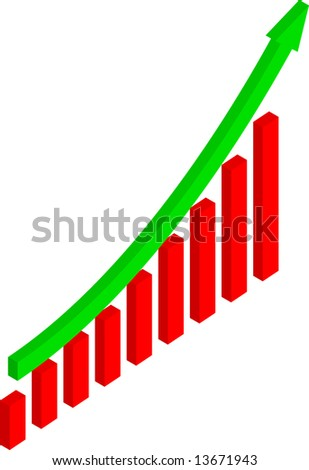 Earnings Growth Rate (Vector) - stock vector